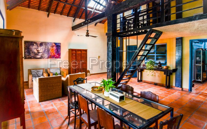 Two bedroom renovated Khmer-style colonial house for rent Riverside